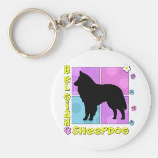 Groovy Belgian Sheepdog Keychain