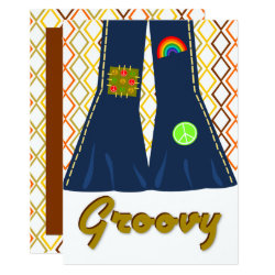 Groovy Bell Bottom 70's Theme Party Invitation