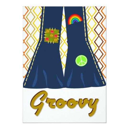 groovy bell bottom 70 s theme party invitation zazzle com