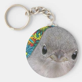Groovy Bird Basic Round Button Keychain