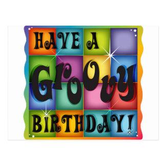 Groovy Birthday Postcard