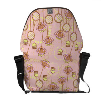 Groovy Blooms in Pink Courier Bag