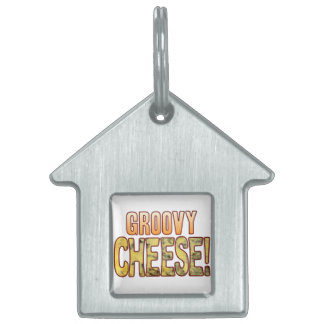 Groovy Blue Cheese Pet ID Tag