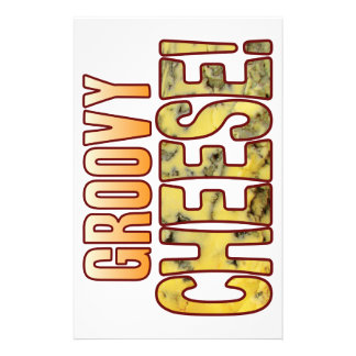Groovy Blue Cheese Stationery