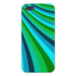 Groovy Blue Green Rainbow Slide Stripes Pattern Cases For iPhone 5