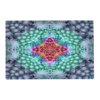 Groovy  Blue   Kaleidoscope Colorful Placemats