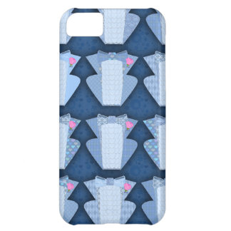 Groovy Blue Tux Pattern Case For iPhone 5C
