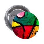 Groovy Bright Abstract Acrylic Art Pin