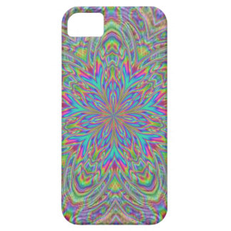 Groovy Bright Neon Abstract Flower Pattern iPhone 5 Cover