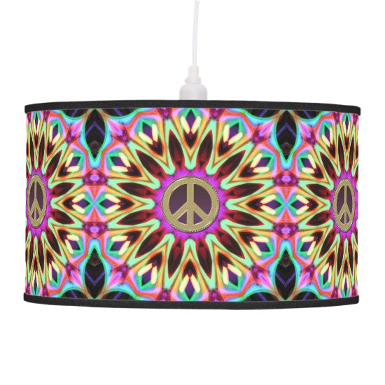 Groovy Brights Hippy Peace Sign Lamp Shade