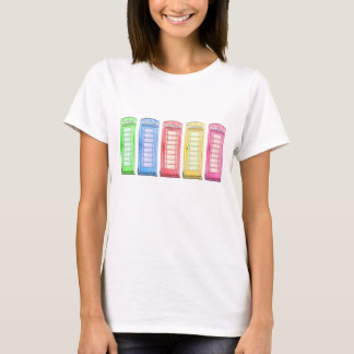 Groovy British phone booth - colors T-Shirt