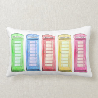 Groovy British phone booth - multicolor pillow