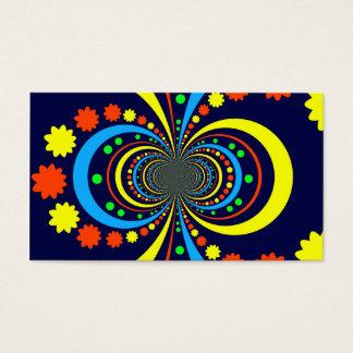 Groovy Bug Eyes Stars Stripes Blue Orange Business Card