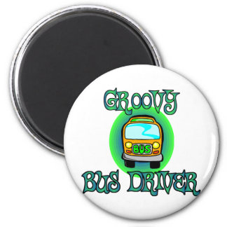 Groovy Bus Driver Refrigerator Magnets