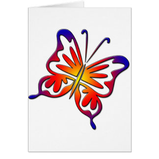Groovy Butterfly Greeting Card