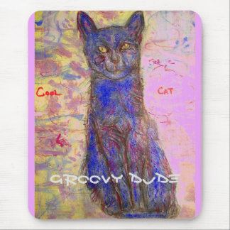 Groovy Cat Mouse Pad