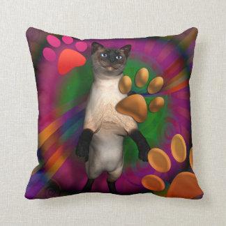 Groovy Cat Throw Pillow