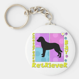 Groovy Chesapeake Bay Retriever Basic Round Button Keychain