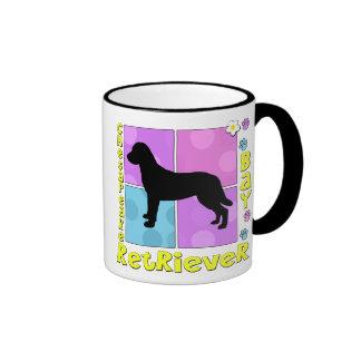 Groovy Chesapeake Bay Retriever Ringer Coffee Mug