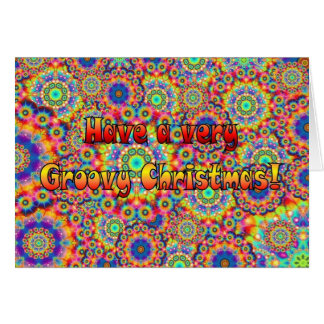 Groovy Christmas Greeting Card