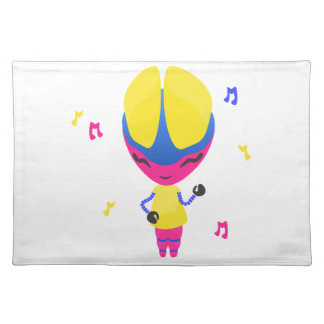 Groovy CMYK Robot Cloth Placemat