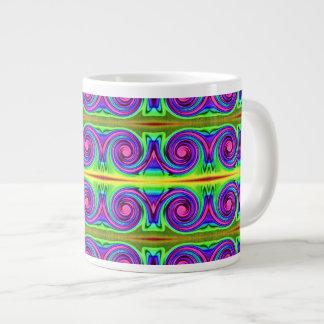 Groovy color circles large coffee mug
