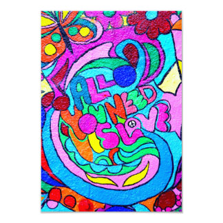groovy colored love invitation