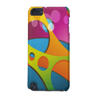 Groovy Colorful 3D Shapes Abstract iPod Touch 5G Cover