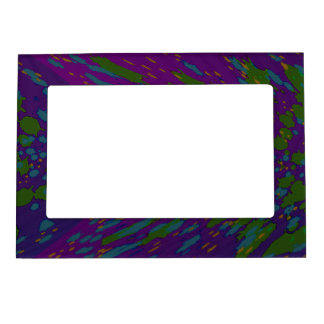 groovy colorful purple abstract magnetic picture frame