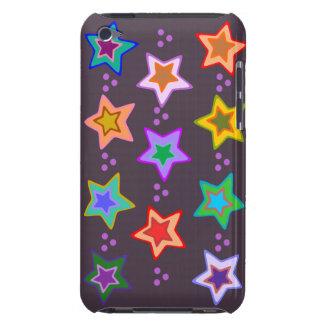 Groovy Colorful Rainbow Stars ipod case