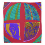 Groovy Colorful Red Abstract Bandana
