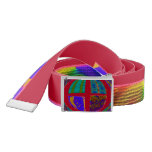 Groovy Colorful Red Abstract Belt