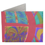 Groovy Colorful Red Abstract Billfold Wallet
