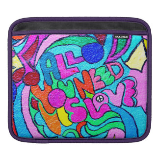 groovy colors peace and love sleeve sleeves for iPads