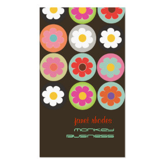 Groovy Daisies, fully customizable Double-Sided Standard Business Cards (Pack Of 100)