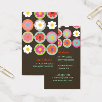 Groovy Daisies, fully customizable Business Card