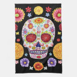 Groovy Day Of The Dead Sugar Skull Kitchen Towel at Zazzle