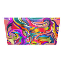 Groovy Digital Pattern Canvas Print