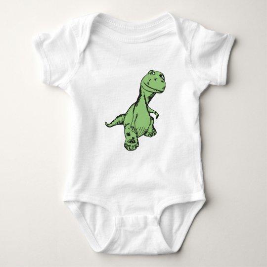 Groovy dinosaur baby bodysuit