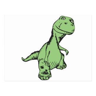 Groovy dinosaur postcard