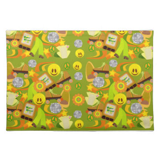 Groovy Disco Fun Pattern Cloth Placemat