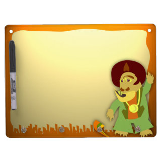 Groovy Disco Monster! Dry Erase Board With Keychain Holder