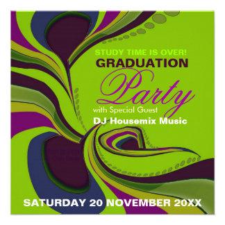 Groovy Diva Graduation Birthday Party Invitation
