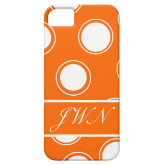 Groovy Dots #11 with monogram iPhone SE/5/5s Case