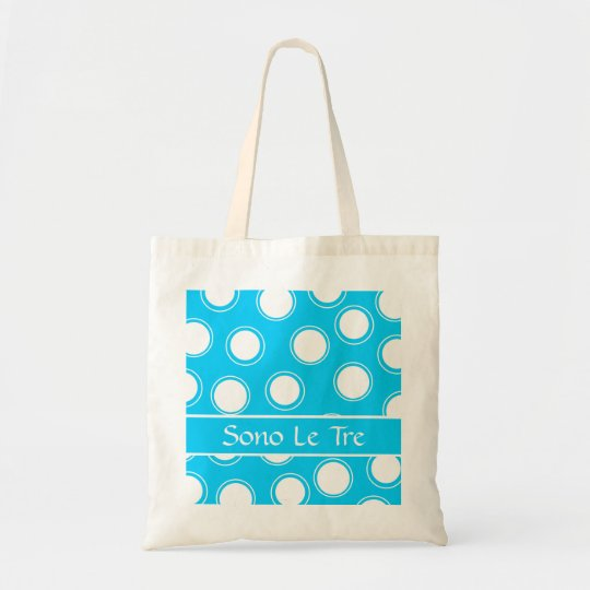 Groovy Dots #1 with monogram Tote Bag