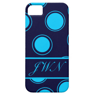 Groovy Dots #3 with monogram iPhone SE/5/5s Case