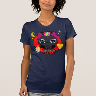 Groovy Ecstatic Kitty Vegan T Tshirt