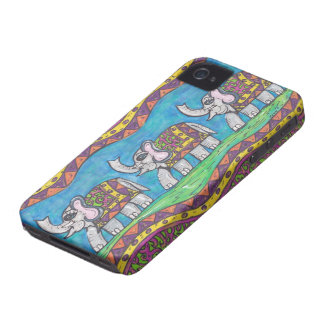 Groovy Elephant Parade iPhone 4 Case