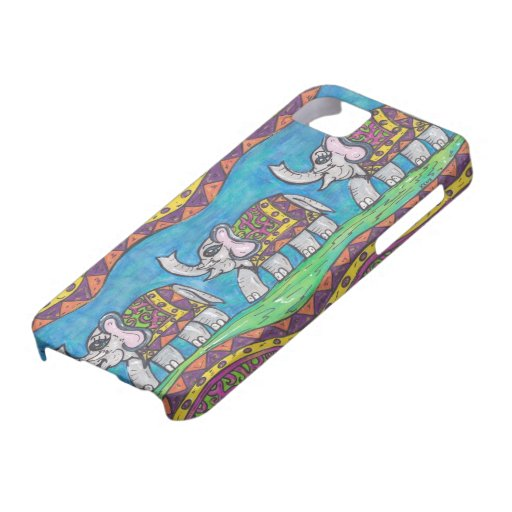 Groovy Elephant Parade iPhone 5 Covers