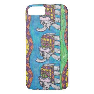 Groovy Elephant Parade iPhone 7 Case